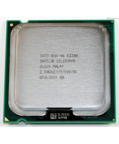 Процессор CPU Intel Celeron Dual-Core E3300 2.5 ГГц/2core/1Мб/65 Вт/800МГц LGA775